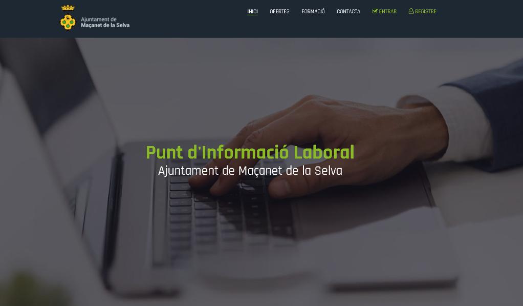 Maçanet de la Selva estrena el nou web del Punt d'Informació Laboral