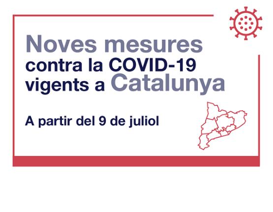Mesures contra la COVID19 a partir del 9 de juliol