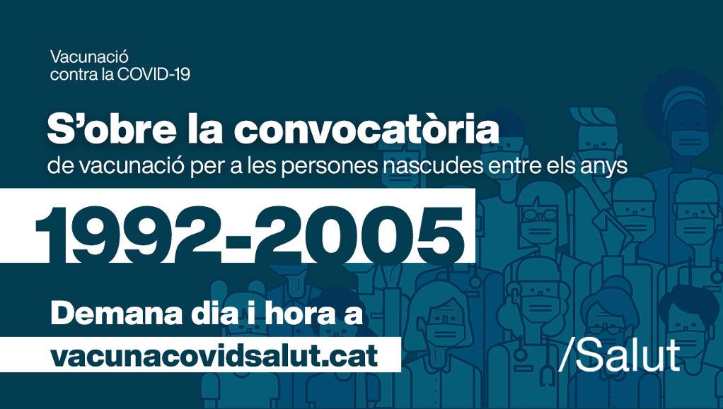 Oberta la convocatòria de vacunació pels nascuts entre el 1992 i el 2005 - d983a-E5IDdrzWQAU96nH.jpg