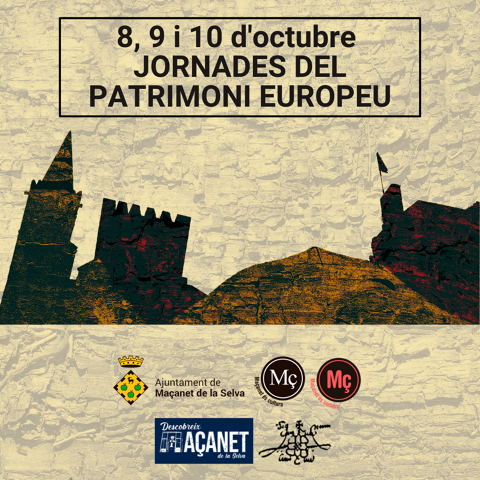 8, 9 i 10 d'octubre Jornades del Patrimoni Europeu