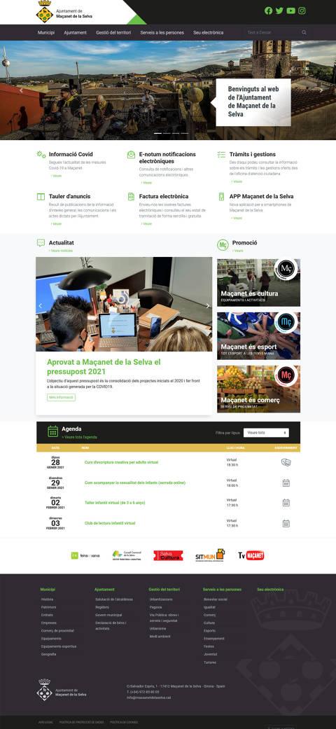 Maçanet de la Selva estrena nova pàgina web