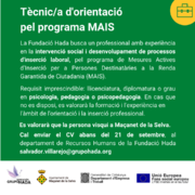 L'Ajuntament, a través de la Fundació Hada i el Punt d'Informació Laboral, impulsa els programes SIOAS i MAIS - 8aa24-1.png