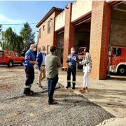 El director de Serveis Territorials d'Interior a Girona visita el Parc de Bombers de Maçanet
